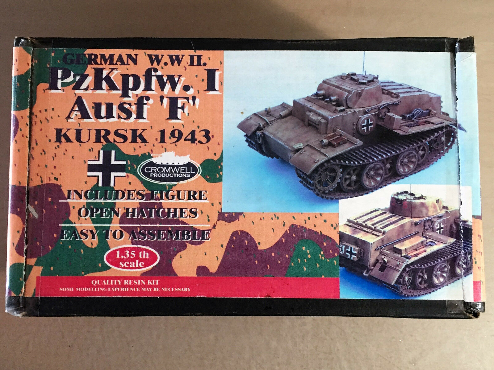 CROMWELL PRODUCTIONS - PzKpfw.I Ausf 'F' KURSK 1943 GERMAN WWII - 1/35 RESIN KIT