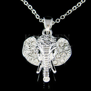 5e9c803bd Holy Elephant made with Swarovski Crystal Luck Lucky Animal Necklace ...