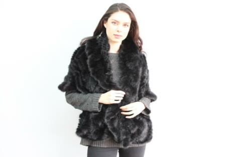 One Mink Medium Of Small Size Knitted A New Jacket Fits S m Fur Kind Black qFZwRFgf
