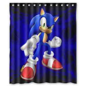 Image Is Loading Custom Sonic The Hedgehog Waterproof Bathroom Shower Curtain