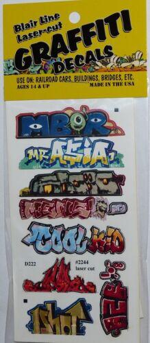 Blair Line 2244 Mega Set 1 Graffiti Decals Spur H0 1:87 Laser cut
