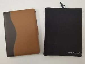 Bear-Motion-Case-for-iPad-Air-2-Genuine-Brown-Leather-Folio-w-built-in-stand
