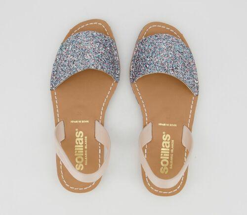 Womens Solillas Solillas Ballerina Sandals Multi Glitter Sandals