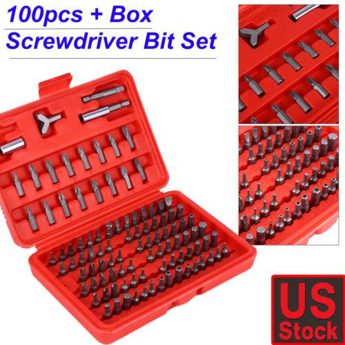 100pcs//set Security Bit Set Metric /& SAE Tamper Proof Torx Hex Key Screwdriver