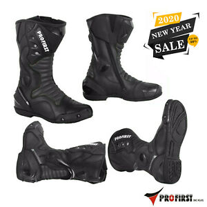 ProFirst-Motorcycle-Leather-Boots-Motorbike-Waterproof-Protection-Bikers-Shoes