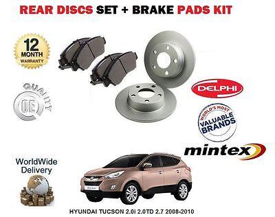 Arrière Disques De Frein /& Garnitures Set Pour Hyundai Tucson 2.0 08//04-12//06