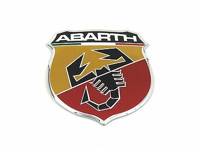 Genuine New FIAT ABARTH GRILLE INSERT BADGE Front Bonnet Emblem For 500 2008+