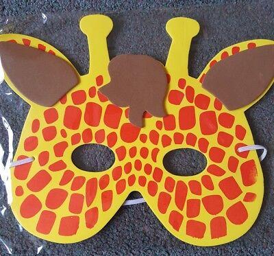 20 Bambini Morbida Schiuma Giraffa Travestimenti Maschere Faccia-costume- Lieve E Dolce