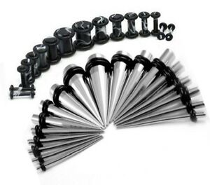 36pcs Ear Stretching Gauge Kit Stainless Steel Taper