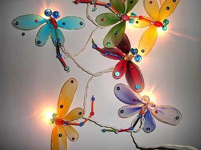 Battery Powered Dragonfly Fairy Light String 3 M Long 20 LED's & Dragonflies.