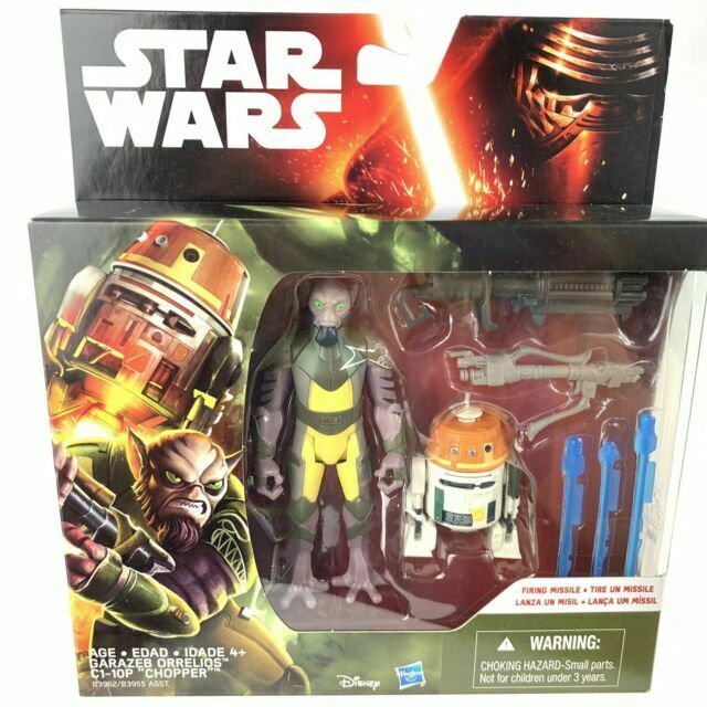 Star Wars Rebels 3.75-Inch Figure 2-Pack Forest Mission Garazeb Orrelios and C1-10P Chopper Hasbro B3962AS0