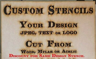 Custom Design Your Own Personalised Stencil Reusable Mylar Wood Acrylic Bespoke