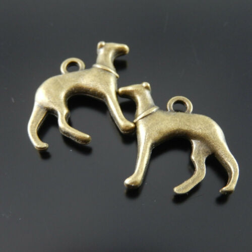 10pcs//Set Vintage Bronze Alloy Pet Dogs Pendant Charm Jewelry DIY Accessories