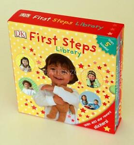 First Steps Library Dk 5 Board Books New Brushing My Teeth Please