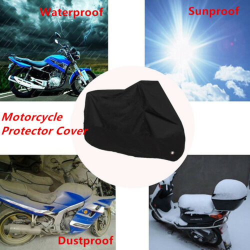 Universal Black Motorcycle Scooter Waterproof Dustproof Sunproof Protector Cover