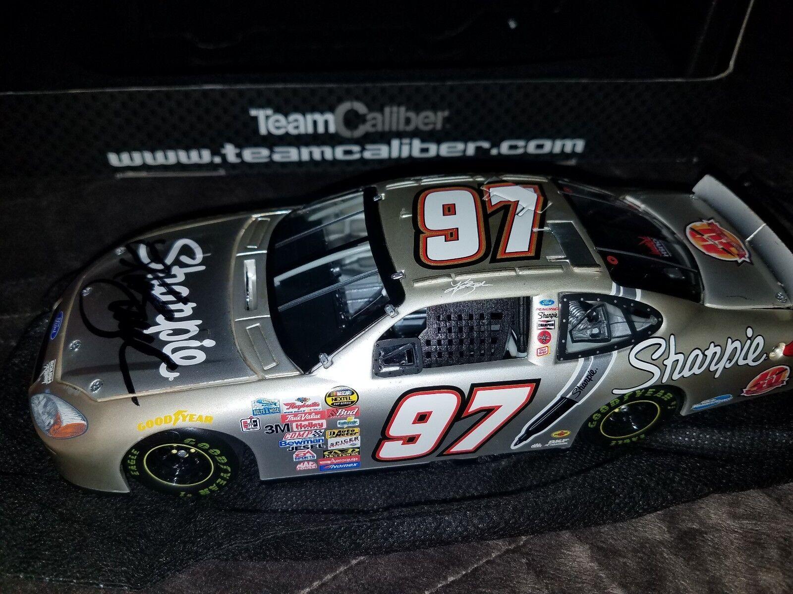 2004 Kurt Busch Sharpie 40th Anniversaire 1 24 signé propriétaires Pearl Diecast NASCAR