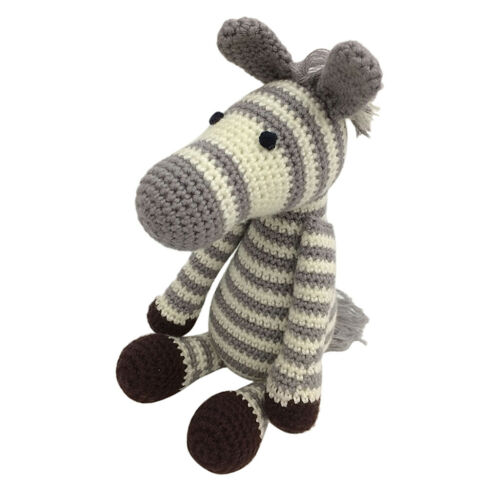 Häkelset   Zebra Handarbeit Häkeln Wolle Bastelset Plüschtier Stofftier