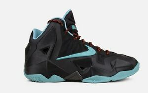 0c28ab2a7afc Nike Lebron XI GS 4Y 6.5Y Diffused Jade Black Crimson Red Youth ...