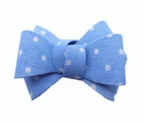 GIRLS WOMENS BOW HAIR ACCESSORY CLIP ALLIGATOR BLUE DENIM BOW BOUTIQUE BOW CLIP