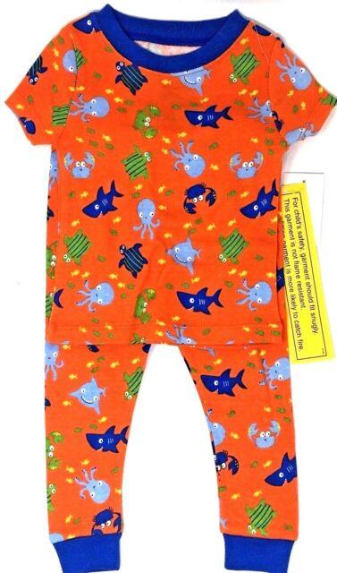19baa8b73 Infant Boys  Tight Fit Pajamas Short Sleeve - Ocean Creatures