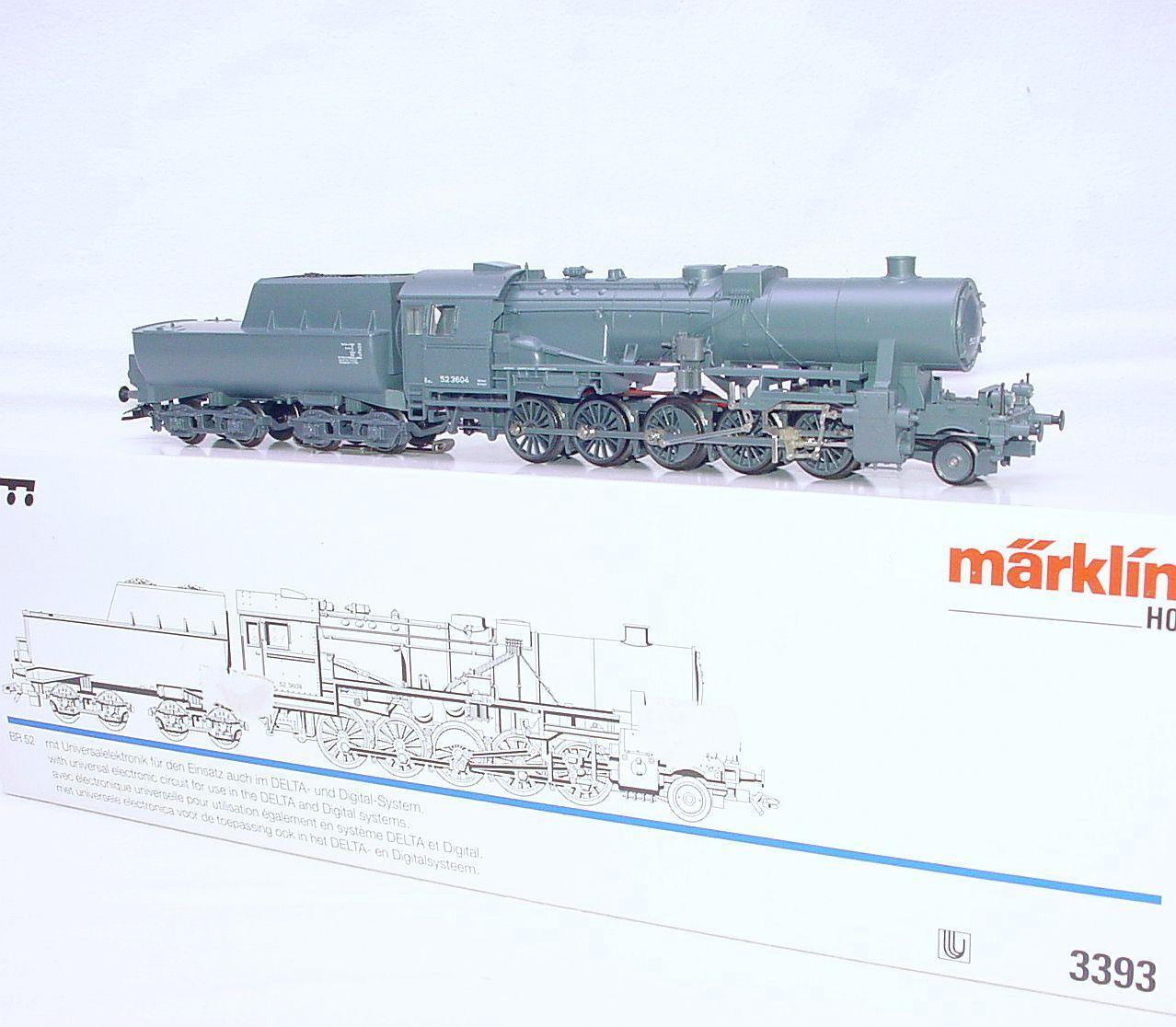 Marklin HO AC Deutsche Reichsbahn DR BR-52 WWII WAR STEAM LOCOMOTIVE MIB RARE