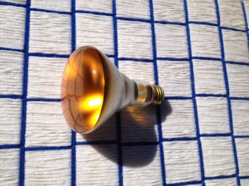 65 WATT Amber R30 indoor 65w orange FLOOD LIGHT BULB BR30 spot 65BR30 spotlite