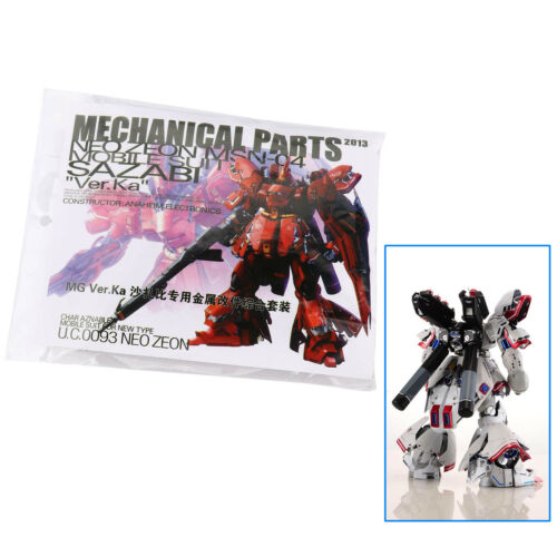 New Metal Details Up Part For 1:100 Bandai MG Sazabi ver Ka Gundam Model Kit