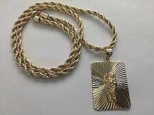 San Judas Tadeo Oro Laminado Cadena Medalla St Jude Gold Plated Necklace Pendant