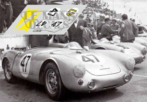 Calcas Porsche 550 Le Mans 1954 39 40 41 47 1:32 1:24 1:43 1:18 slot decals