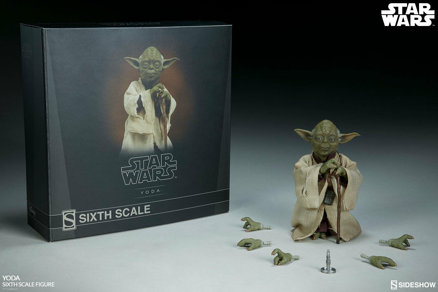 Star Wars Ep. V Yoda Sixth Scale 1 6 Acción By Sideshow Collectibles