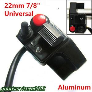Aluminum-7-8-034-22mm-Motorbike-Handlebar-Push-Button-Horn-Turn-Signal-Light-Switch