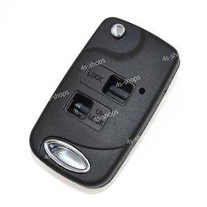 uncut blank folding flip remote key shell case for toyota. Black Bedroom Furniture Sets. Home Design Ideas