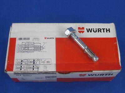 25x Schwerlastdübel Fixanker Dübel Bolzenanker Würth W-FAZ//S M12 x 110 mm