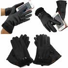 Women's Winter Warm PU Leather Click Touch Screen Magic Gloves New Fast postage
