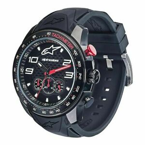 Alpinestars-Tech-Watch-Chrono-Black-Black-Black-Silicone-Strap-Miyota-NEW
