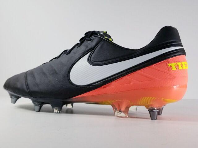 official photos 322a6 81ae1 Buy Nike Tiempo Legend VI SG Pro Soccer Cleat Black orange 819680-019 Sz 11  online   eBay