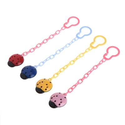 BABY GIRL or REBORN DOLL PINK LADYBIRD CHAIN  DUMMY CLIP SAVER HOLDER