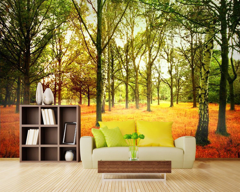 3D Tree Sunny Lawn 708 Wallpaper Mural Paper Wall Print Wallpaper Murals UK