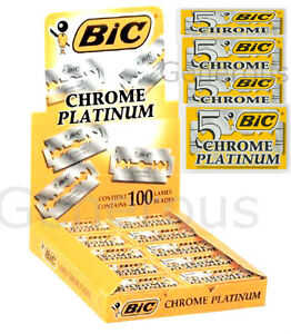 50 25 15 5 BIC CHROME PLATINUM BLADES DOUBLE EDGE RAZOR BLADES FOR ... c388e258f8bc