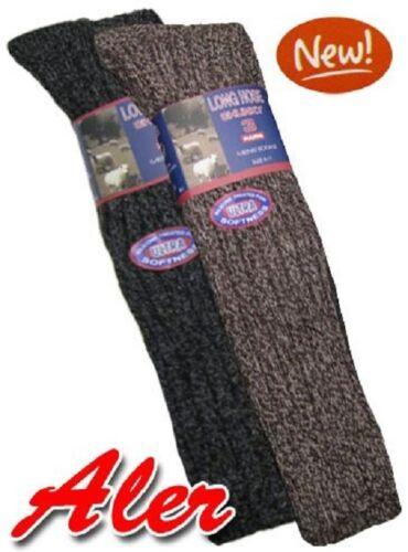 Men Chunky Wool Blend Long Hose Silicone Treated All-Terrain Boot Hiking 3 Socks