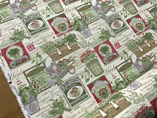 Herb Garden Rustic Kitchen Farmhouse Cotton Fabric Curtain Quilting Crafts