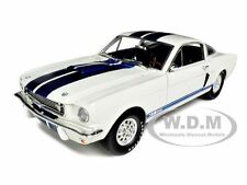 1966 SHELBY MUSTANG GT 350 WHITE W/BLUE STRIPE 1/18 BY SHELBY COLLECTIBLES SC160