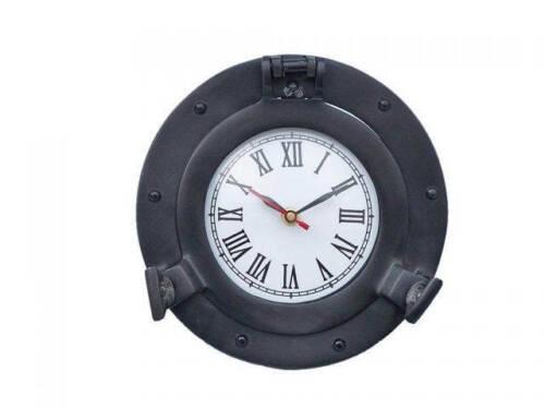 "Nautical Wall Clock Oil Rubbed Bronze Deluxe Class Porthole Clock 8/"" Clock D"