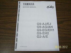 yamaha golf cart repair service manual g2 g9 golf carts on disc nice rh ebay com yamaha g2 golf cart service manual yamaha g2 golf cart service manual