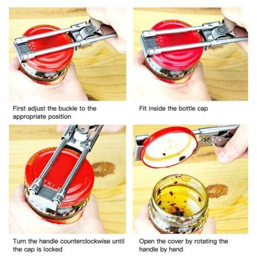 New Master Opener Adjustable Jar /& Bottle Opener Non-slip Bottle Cap Screw Cap