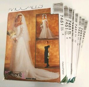 McCalls-7451-Alicyn-Bridal-Wedding-Gown-Dress-SIZE-RUN-4-18-sewing-pattern-UNCUT