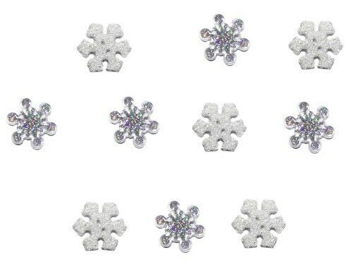 Jesse James Buttons scrapbook Dress It Up ~ Sparkle Snowflakes 4224 sewing