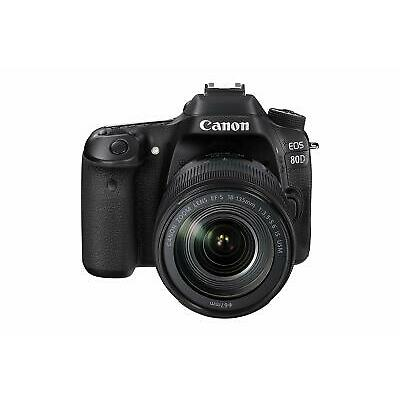 "CANON EOS 80D DS126591 3"" BLACK EF-S 18-135 IS USM KIT (864673)"