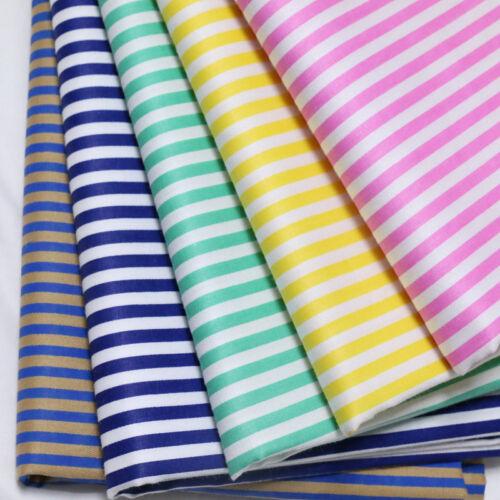 50cm*160CM Stripe 100/%cotton fabric Quilting Quilt Clothes Bedding Sewing DIY