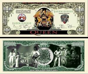 QUEEN-BILLET-1-MILLION-DOLLAR-US-FREDDIE-MERCURY-BRIAN-MAY-freddy-Groupe-Rock